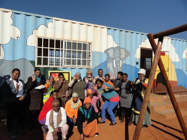 Janet Suzman (DBE) visits Zenzele Early Childhood Development Centre