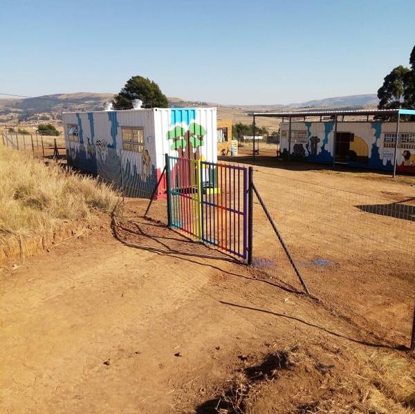 Fencing around school centre